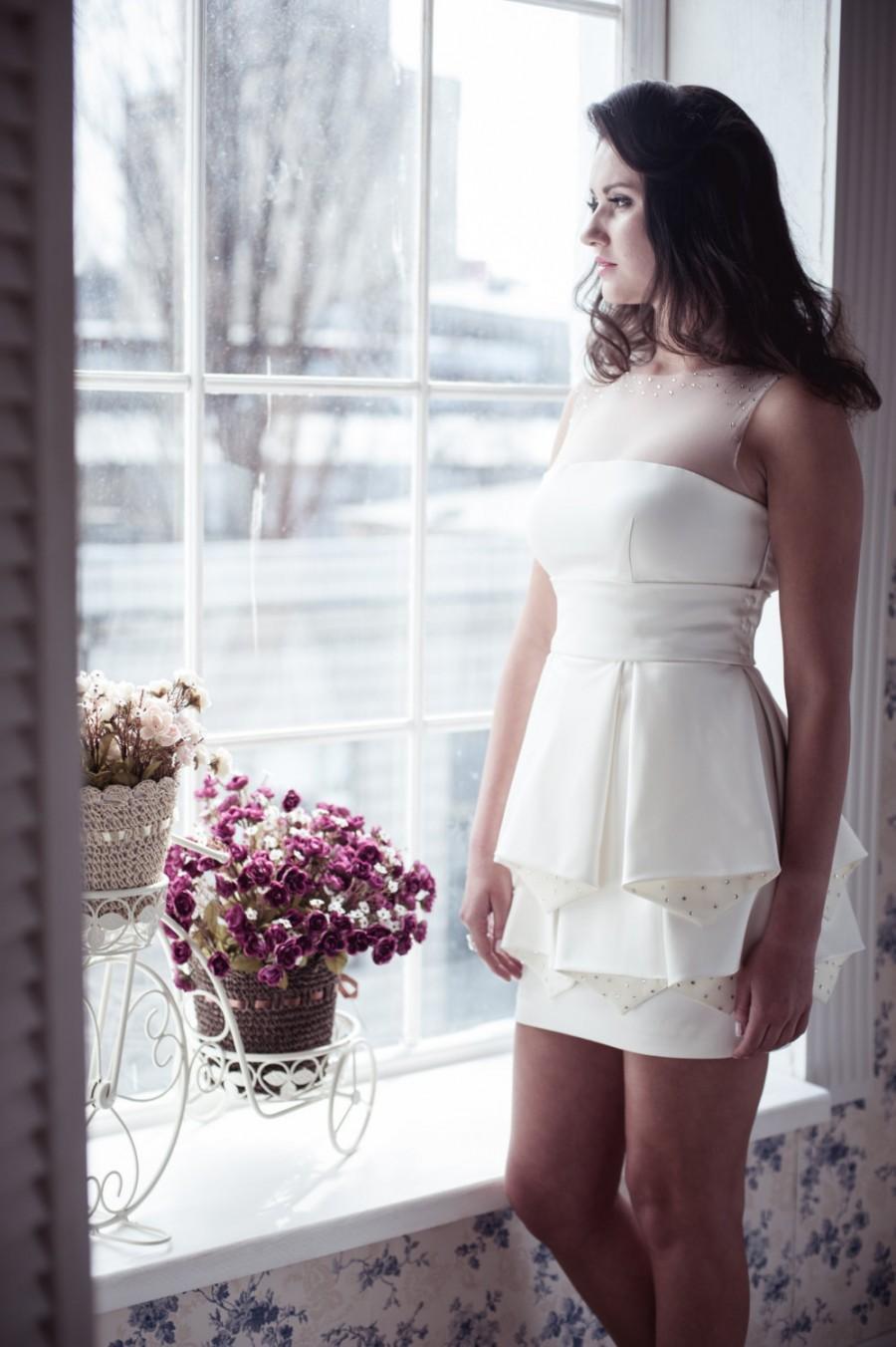 Dress on sale short wedding dress m26 2395814 weddbook for Short wedding dress sale