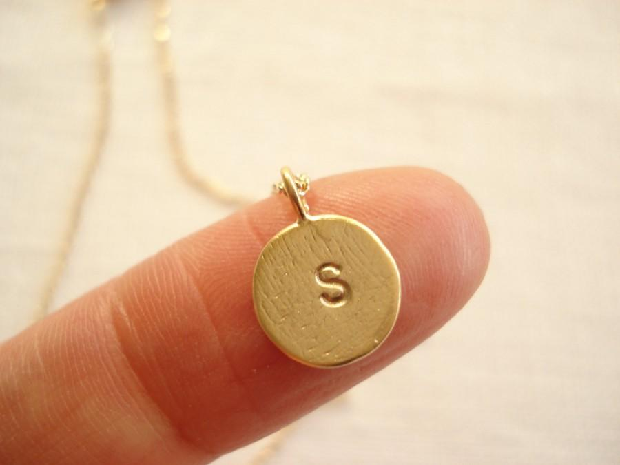 Initial Necklace...Gold Personalized Jewelry For Bridesmaid Gift ...