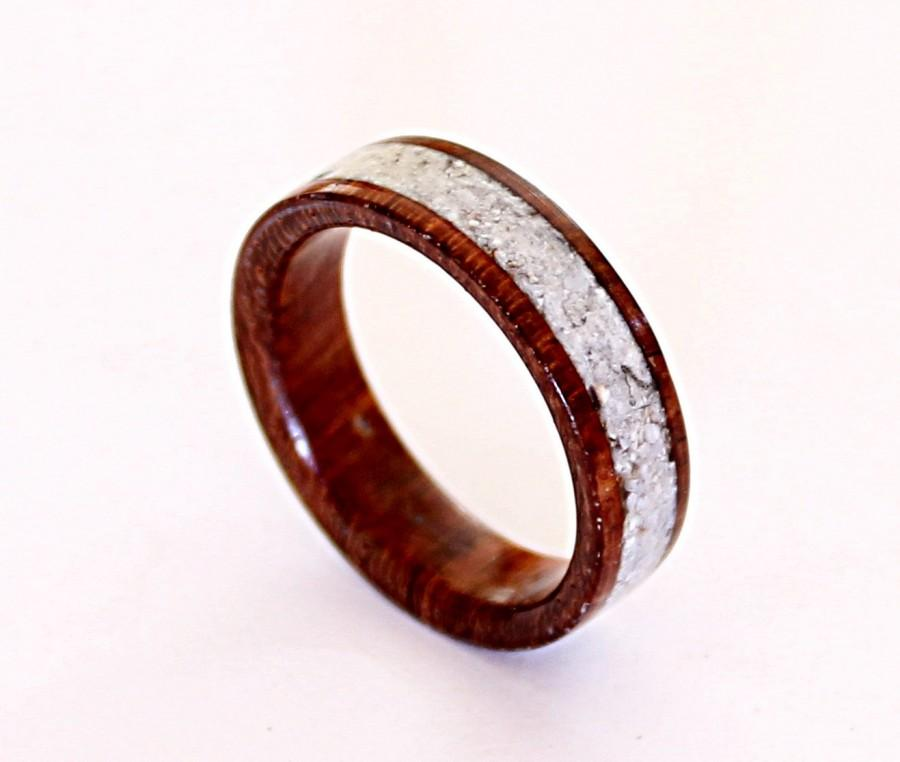 Womens Wood Ring With Crushed Shell Inlay 2395938