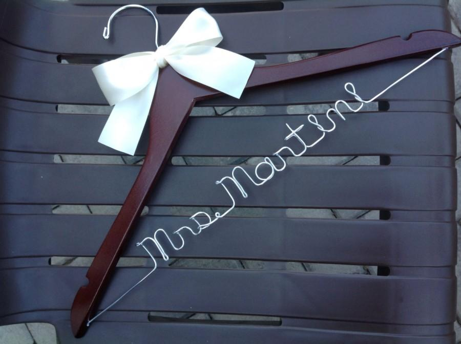 Mariage - SET of 9 HANGERS/Personalized hangers