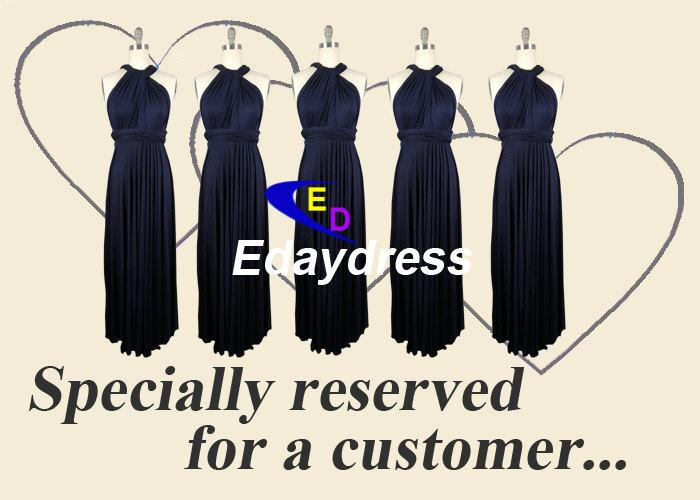 Midnight Navy Blue Full Length Long Infinity Wrap Convertible Bridesmaid Dresses For Weddings Or Any Occasion