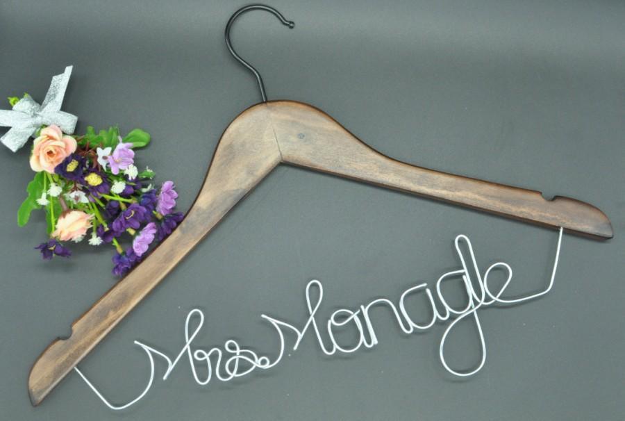 Wedding - Promotions Silver Wedding hanger Personalized wedding Hanger, Wire bride Hanger, Wedding dress hanger, Bridal Hanger, Bridesmaids Hanger