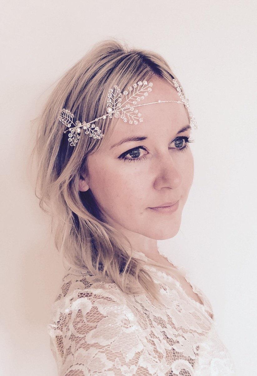 Bridal Hair Vine, Wedding Accesories, Crystal Headpiece, Winter ...
