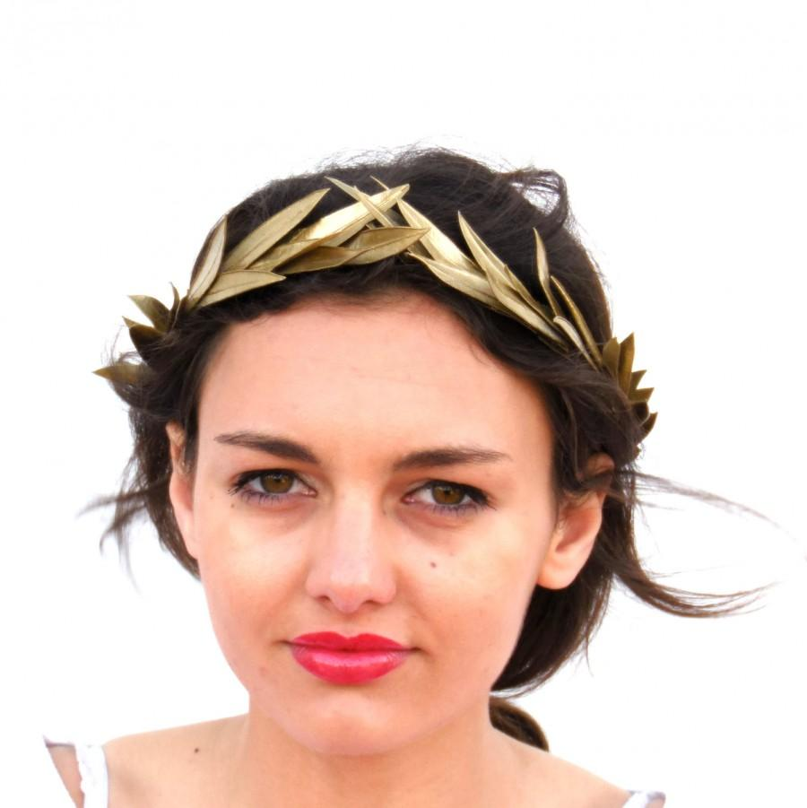 Gold Leaf Crown, Gold Headband, Golden Leaves Headpiece ...