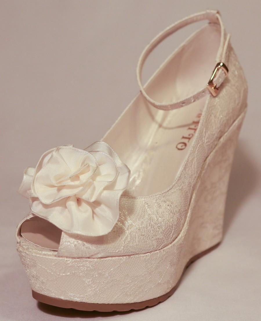Wedding , Wedding Shoes, Bridal Wedge Shoes,Bridal Shoes, Bridal ...