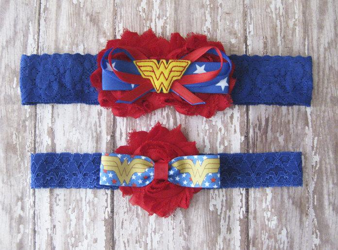 Wedding - Wonder Woman Garter Set