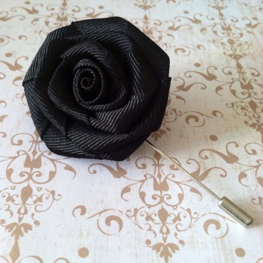 Mens flower lapel pin rose lapel pin wedding boutonniere mens mens flower lapel pin rose lapel pin wedding boutonniere mens accessories black lapel pin lapel flower mightylinksfo