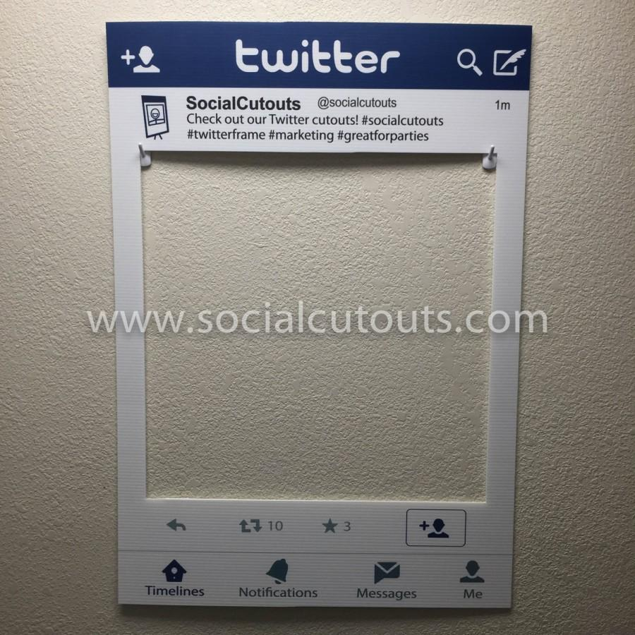 LARGE Printed & Shipped TWITTER Cutout Frame Prop #2396476 - Weddbook