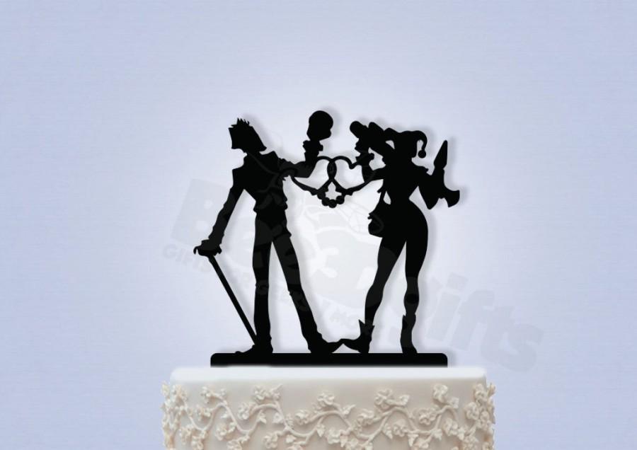 زفاف - Joker and Harley Cake Topper