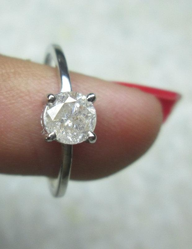 50 carats solitaire diamond ring 1 2 carats e f color 14k solid