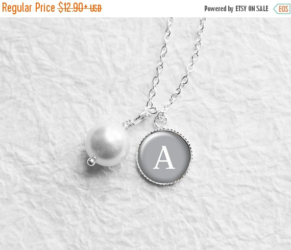Mariage - SALE Personalized Initial Necklace, Bridesmaid Gift, Best Friend, Black Friday, Monogram, Mother of the Bride, Bridal Shower Gift, N170h