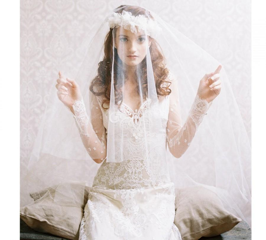 Свадьба - Bridal ballet blusher silk tulle veil - Style Soft Kiss no. 1978