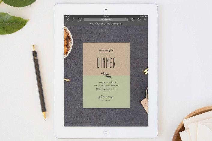 Mariage - Farm To Table Menu Dinner Party Online Invitations...
