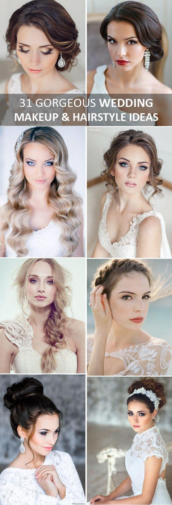 Wedding - 31 Gorgeous Wedding Makeup & Hairstyle Ideas For Every Bride
