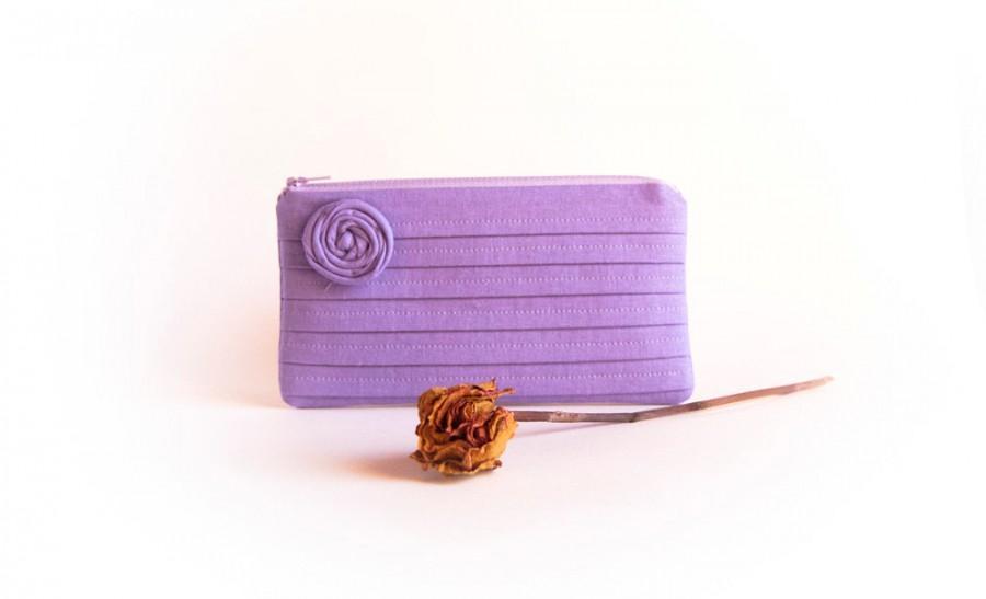 Свадьба - Purple Lilac Wedding Bridal Clutch Purse, bridesmaid gift idea clutch, Gift for her, Romantic Rose