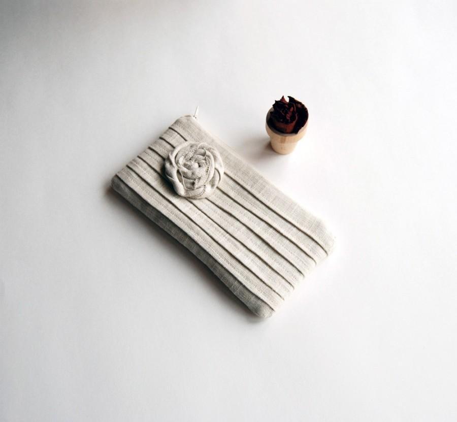 Свадьба - Ivory Creme Wedding bridal Clutch,  Rustic Bridesmaid Gift Idea Clutch, Rustic Bridal Clutch, Romantic Rose