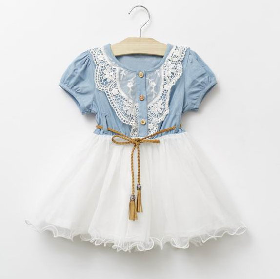 Boda - Girls Light Denim Tutu, Summer Dress