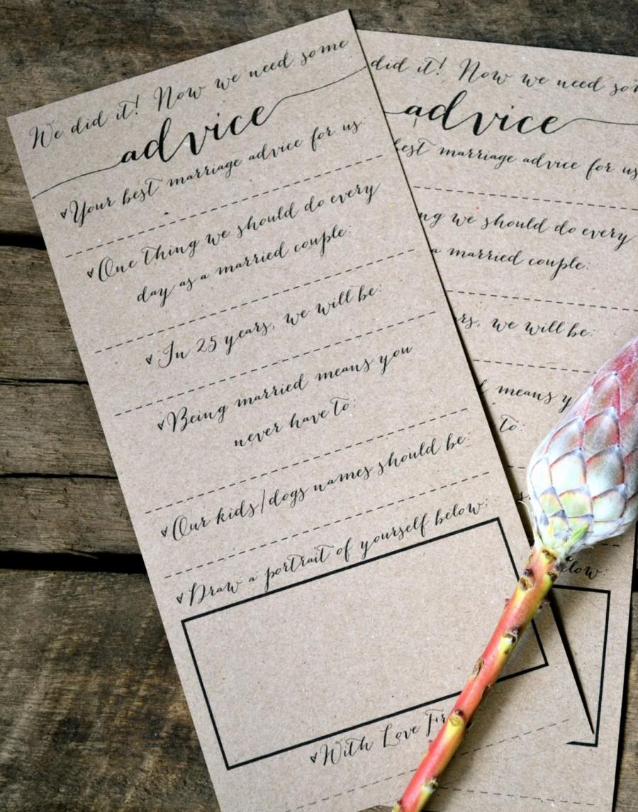 زفاف - Wedding Question Cards, Wedding Advice Cards