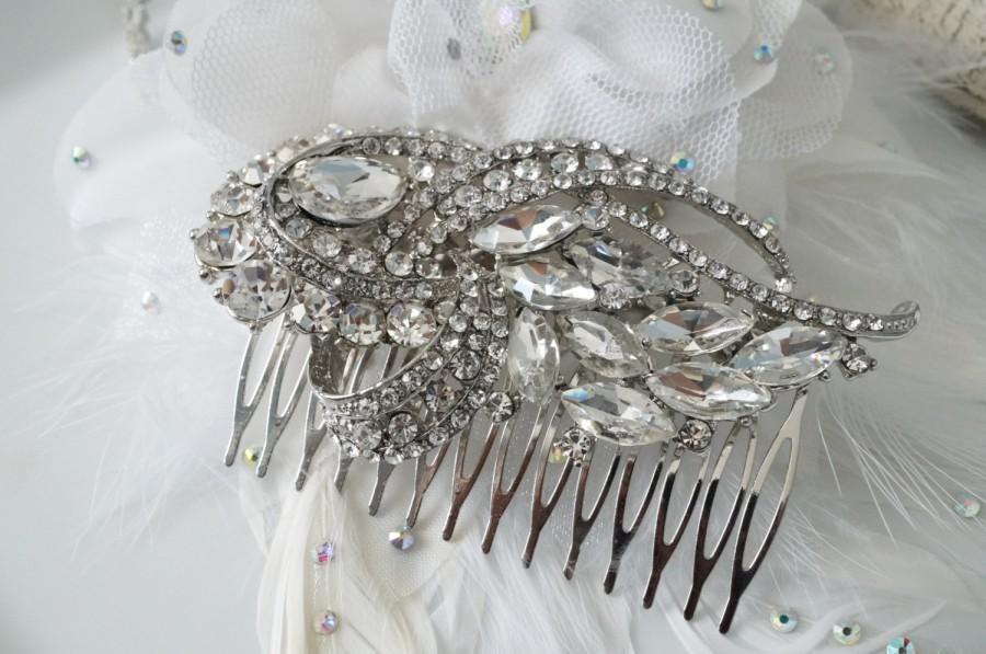 Свадьба - Vintage Inspired Bridal Hair Comb, Wedding Hair Comb, Bridal Hair Accessories, Wedding Hair Accessories