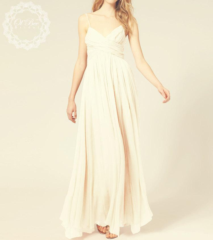 Chiffon Wedding Dress Reception Dress Party Dress Bridal