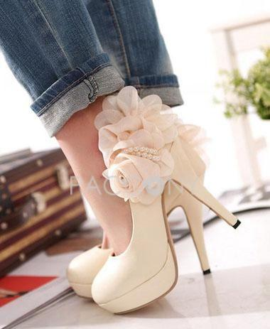 Wedding - Floral Pumps, Stylish Pumps, Elegant Pumps
