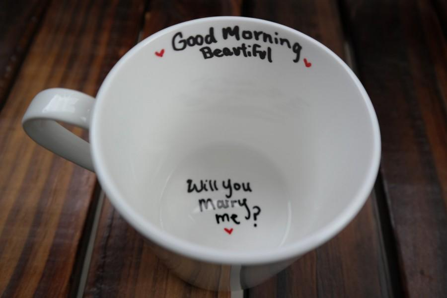 Wedding - Will You Marry Me Mug- Unique Proposal Ideas, Marry Me, Moving Away, Long Distance Relationship, Graduation, Army, New Job