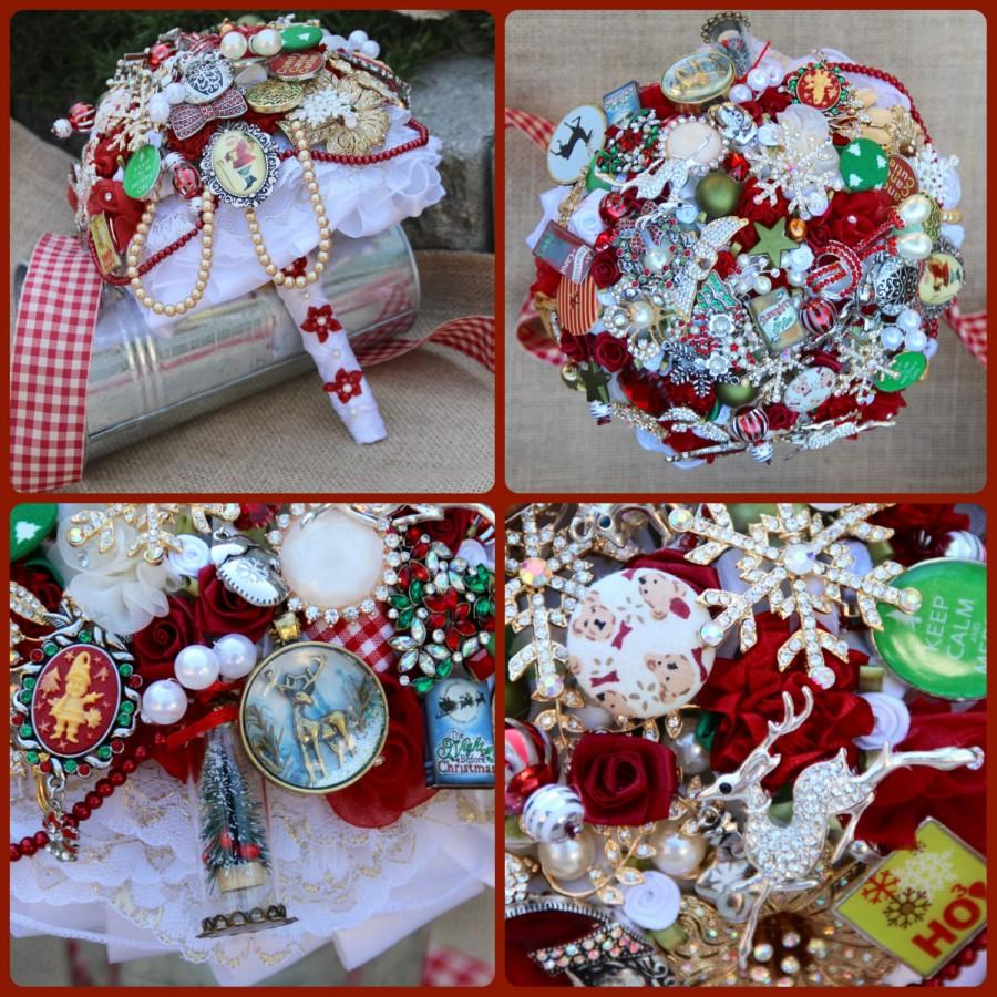 Mariage - Classic Christmas Brooch Bouquet