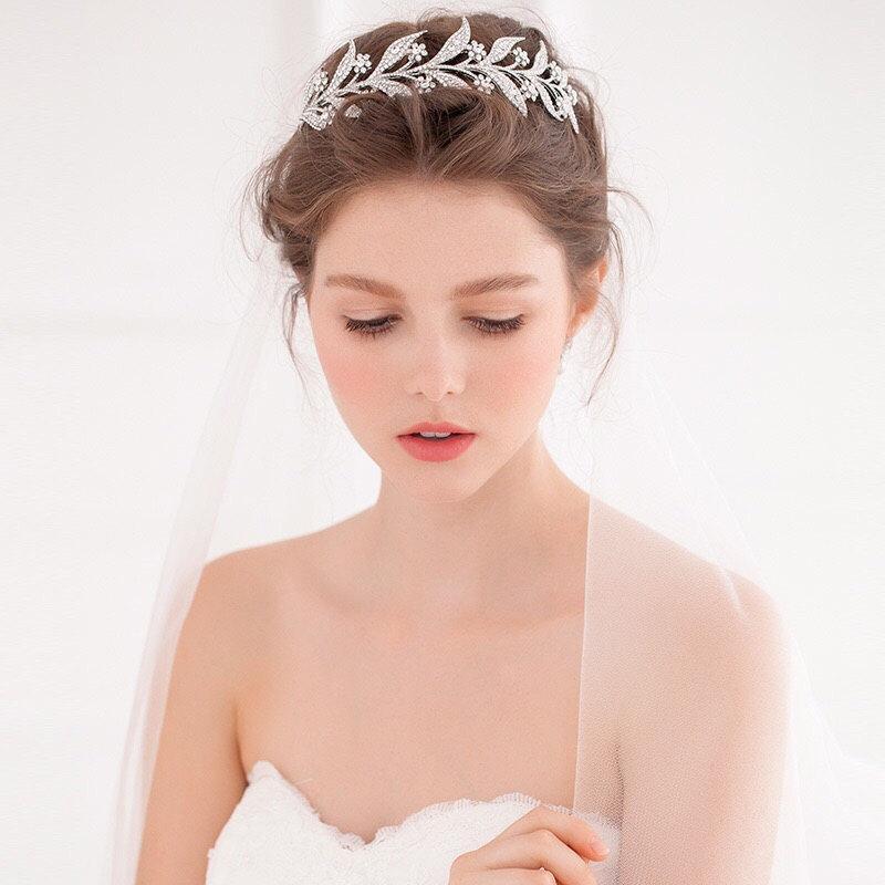 زفاف - Lady Mary Wedding Tiara - Downton Abbey Bridal Tiara - Vintage Bridal Tiara - Leaf Wedding Crown - Vine Wreath Tiara - Bridal Tiara - Crown
