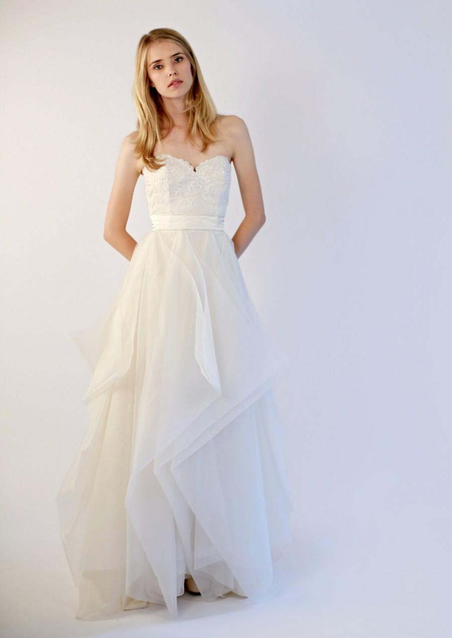 Hand Made Silk Organza And Lace Wedding Gown--Janine #2397137 - Weddbook