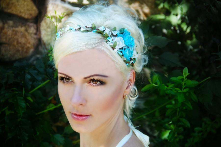 Festival Boho Hippie Flower Headband Crown Hair Piece Halo Elastic Head Princesscollection