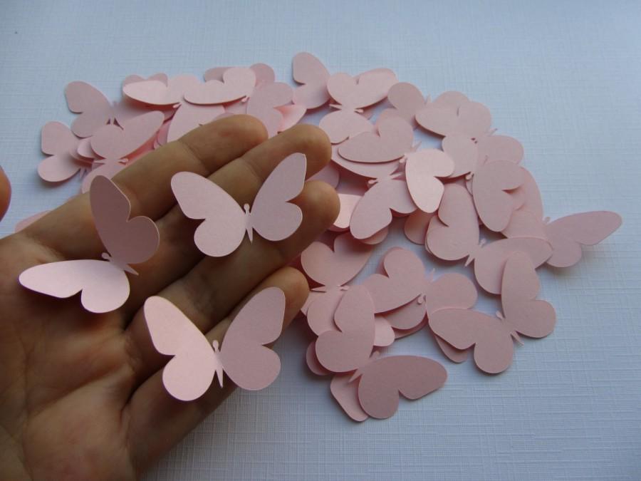 Hochzeit - Pink Paper butterflies die cut butterflies pink wedding scrapbooking  wedding decoration pink butterflies wedding table butterflies