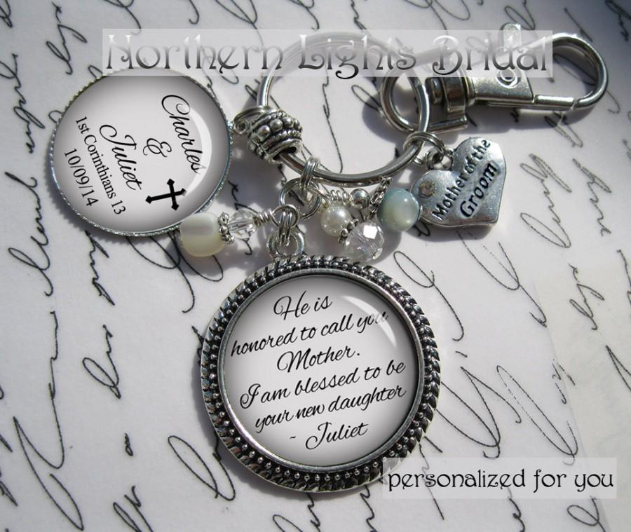 Mother Of The Groom Gift From Bride Personalized Key Chain Purse ...