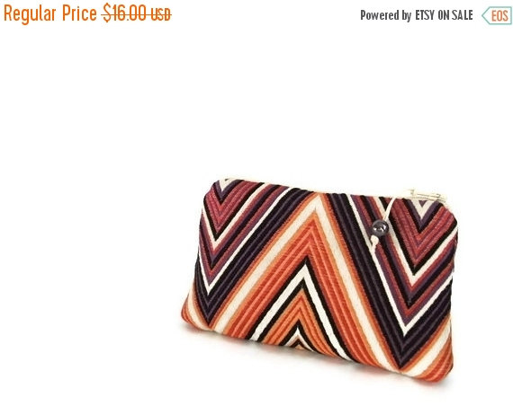 Mariage - Chevron Purple Clutch, Unique Coin Purse, Christmas Gift for Girl, Ready to ship