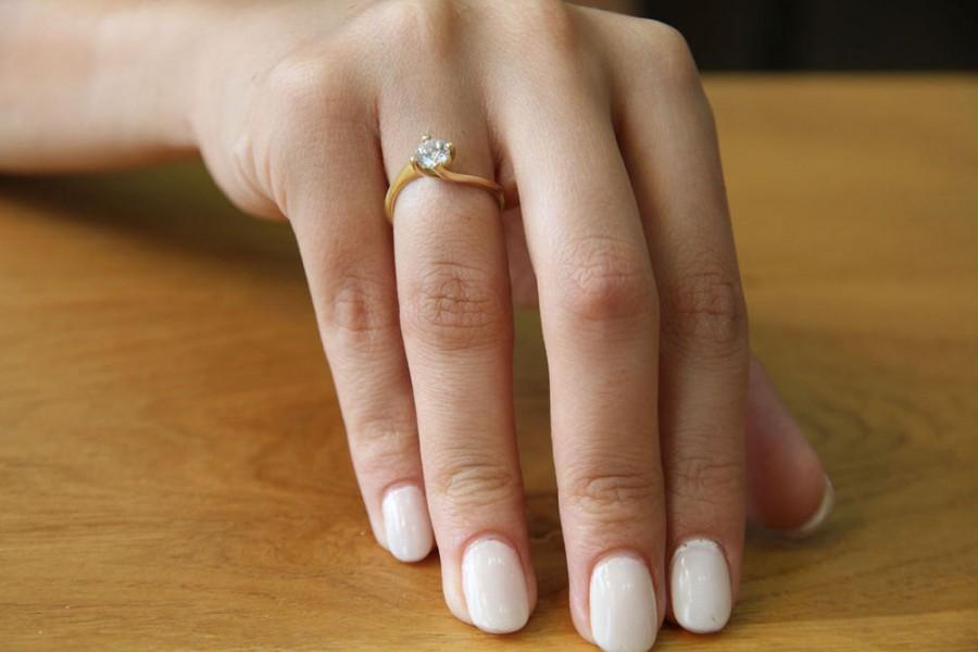 Mariage - Twist Diamond Engagement Ring, 14K Gold Ring, Solitaire Engagement Ring, 0.35 CT Diamond Ring Setting, Unique Rings