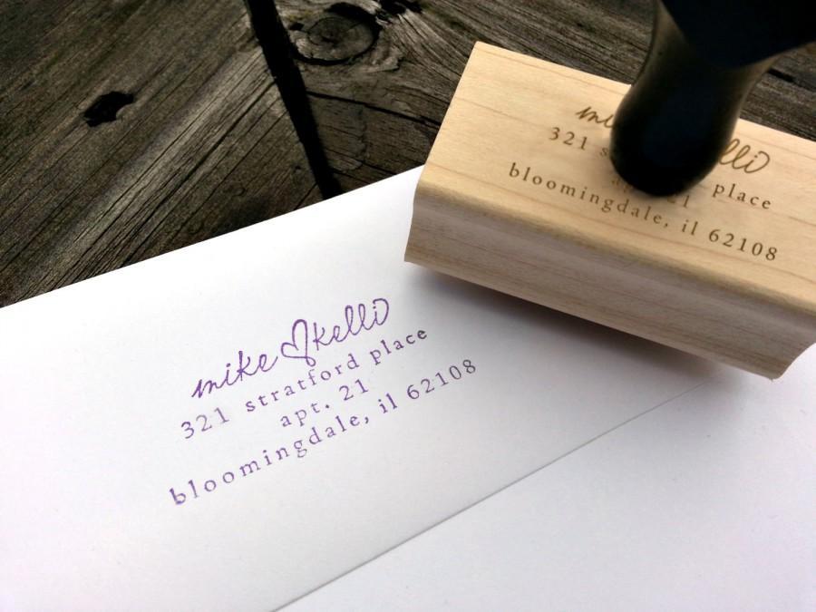 Mariage - Personalized Wedding Address Stamp