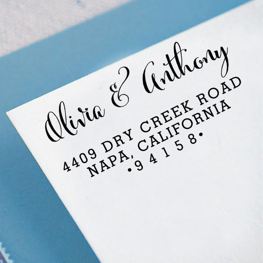Custom Return Address Stamp Self Inking Personalized Rubber Invitation Wedding Gift HS115P