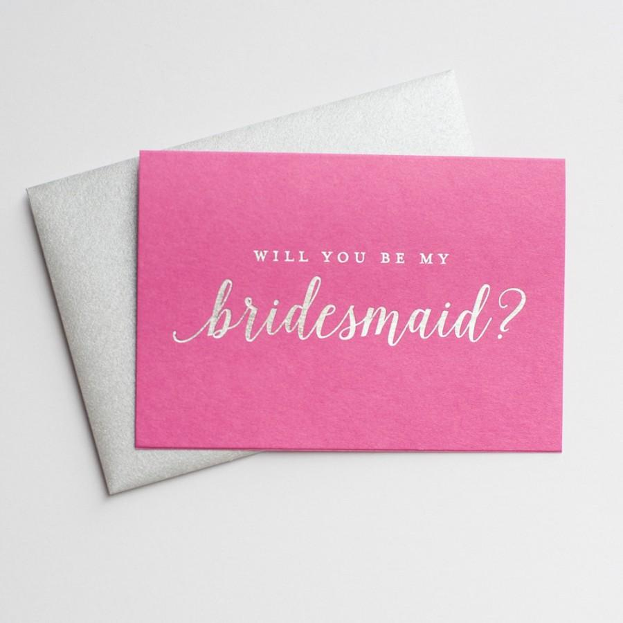 Will You Be My Best Man WB009-CN-F Silver Foiled Wedding Party Cards Gold Foiled Wedding Day Card