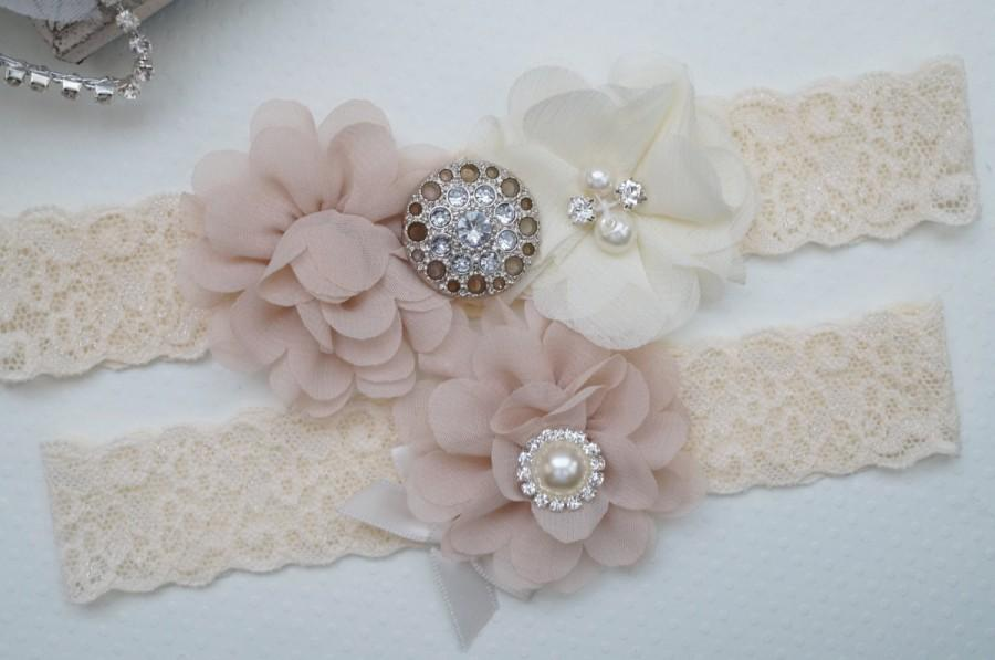 Mariage - Wedding Garter Belt, Bridal Garter Set, Rustic Wedding Garter, Keepsake Garter, Toss Garter, Rustic Bride