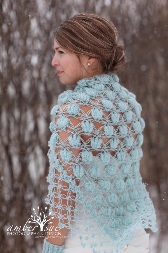 Blue Shawl,Wedding Cape, Wedding Shrug, Capelet, Bolero, Bridal ...