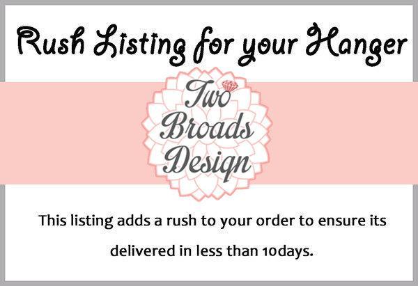Mariage - RUSH LISTING Personalized Bridal Hanger, Brides Hanger, Dress Hanger