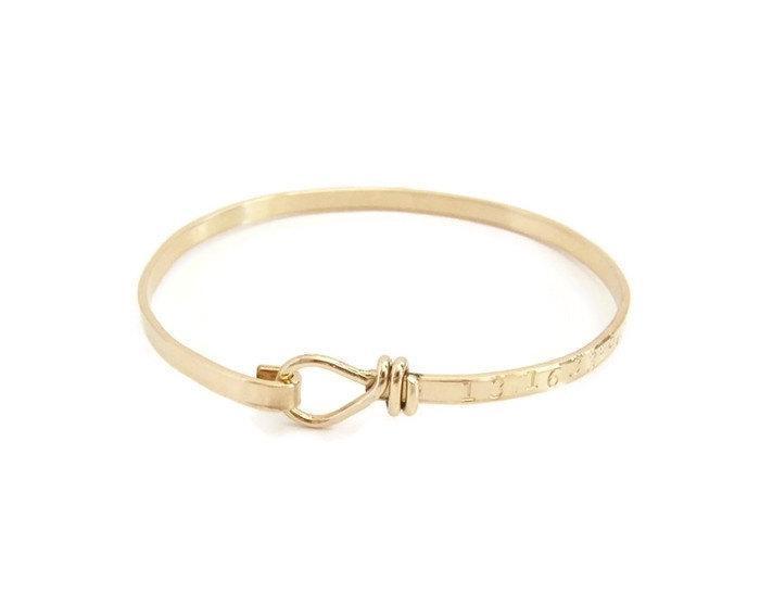 Personalized Gold Laude Longitude Knot Bracelet Coordinate Gps Bangle Jewelry