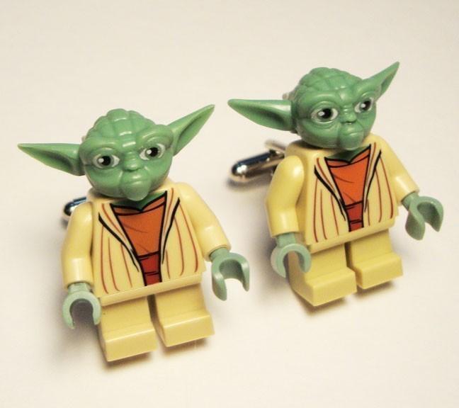 Yoda Cufflinks Full Body Star Wars Yoda Silver Toned Cufflinks