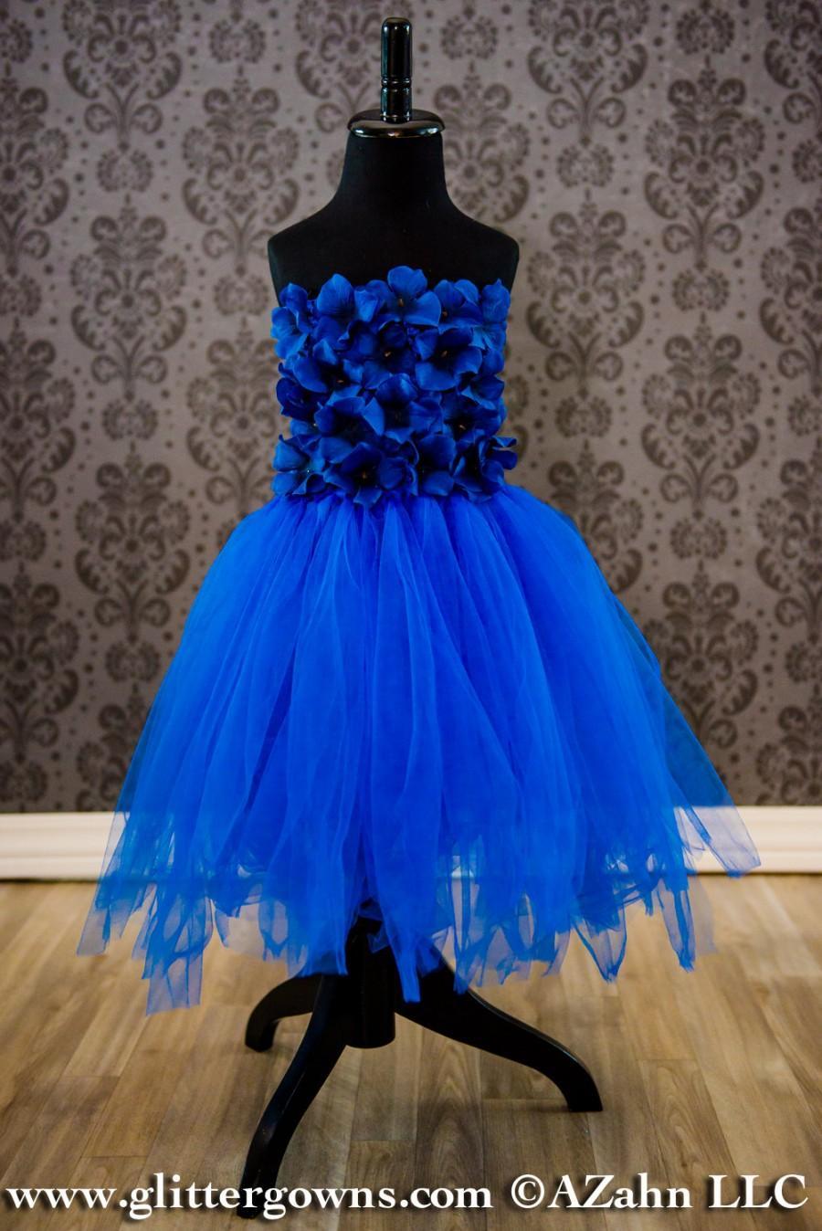 زفاف - Flower Girl Dress - Royal Blue Tulle - Baby Dress - Fairy Dress