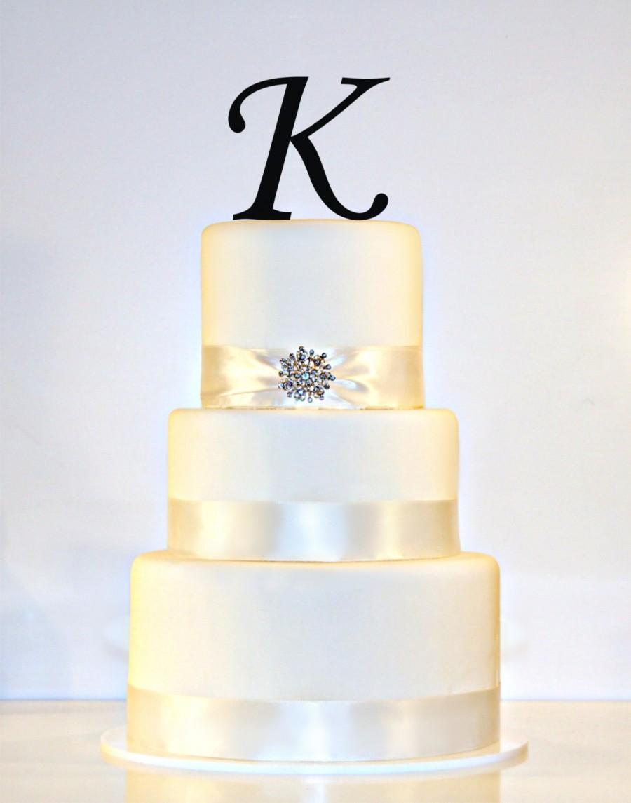 Свадьба - Custom - 4 inch Monogram Acrylic Wedding Cake Topper Personalized in Any Letter A B C D E F G H I J K L M N O P Q R S T U V W X Y Z