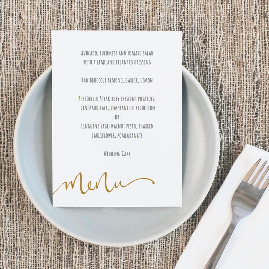 Hochzeit - Printable Wedding Menu Template