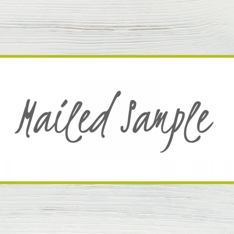 Hochzeit - Mailed Sample