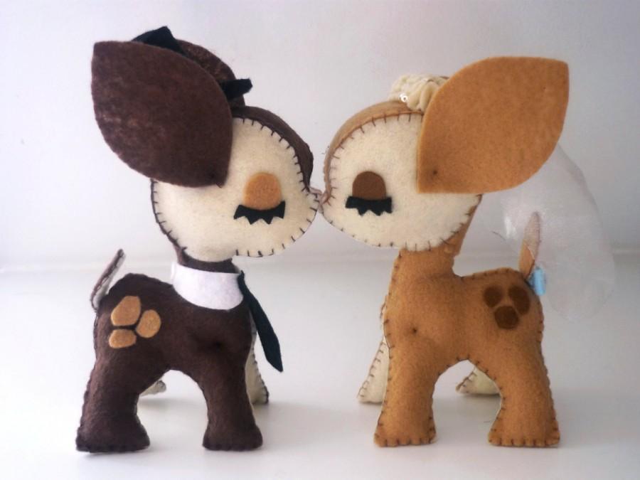 Mariage - Deer Sweet Love wedding cake topper- Custom wedding cake topper-