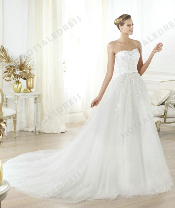 Mariage - Wedding Dress - Style Pronovias Layna Tulle Beading Embroidery Strapless