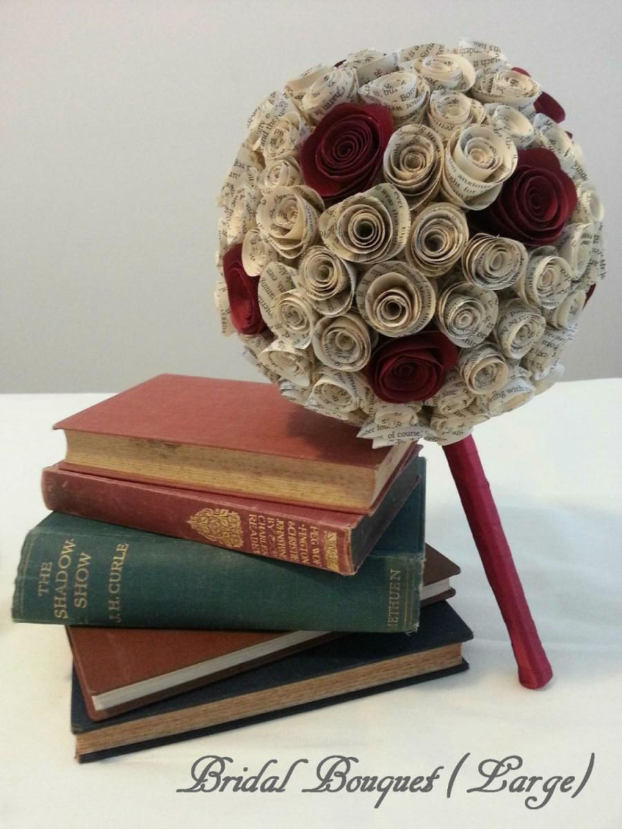 Book Page Coloured Rose Paper Flower Bouquet 2398198 Weddbook