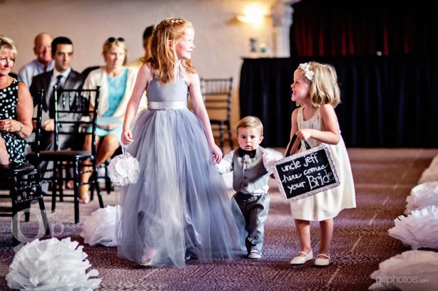 Wedding - Flower Girl Dress Gray